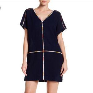 Madewell xxs Navy cotton tunic dress
